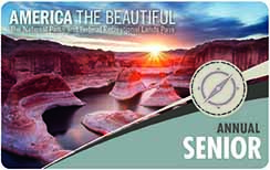 Image of the front of the 2017 America the Beautiful Senior Pass -Annual