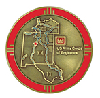 Reverse image of Albuquerque District Commander's Coin