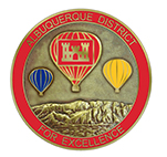 Front image of the Albuquerque District Commander's Coin