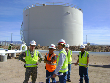 Visiting the bulk fuels project at Kirtland AFB