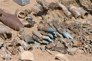 Teams have found an assortment of ordnance at the Kirtland site.