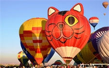 ALBUQUERQUE, N.M., -- Hot air balloons fill the District's sky every October during the Albuquerque International Balloon Fiesta.