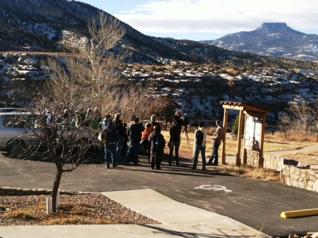 Volunteers gather to begin the annual Eagle Watch at Abiquiu Lake, NM, Jan. 2014
