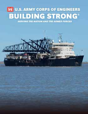 Cover of the 2016-2017 issue of USACE: Building Strong: Serving the Nation and the Armed Forces