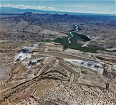 aerial photo of Galisteo Dam
