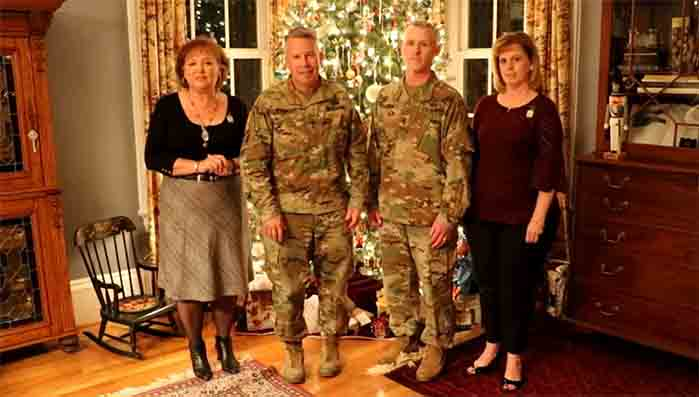 Holiday Message from LTG Semonite, his wife, Sergeant Major  Bradley Houston and his wife