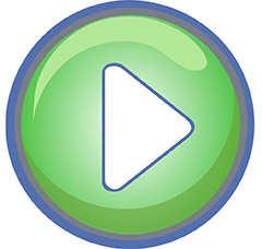 Round green play button image